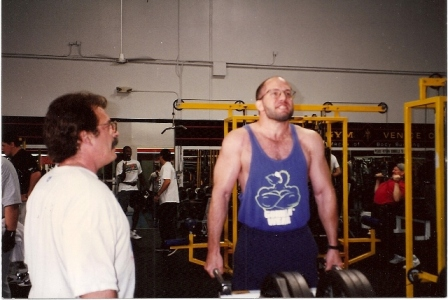Training with Mike Mentzer, Mr. Universe winner and Mr. Olympia runner-up.